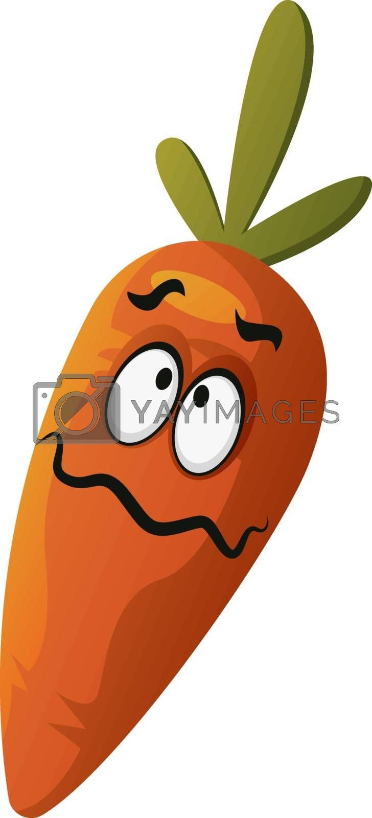 Royalty free image of Carrot confused illustration vector on white background by Morphart