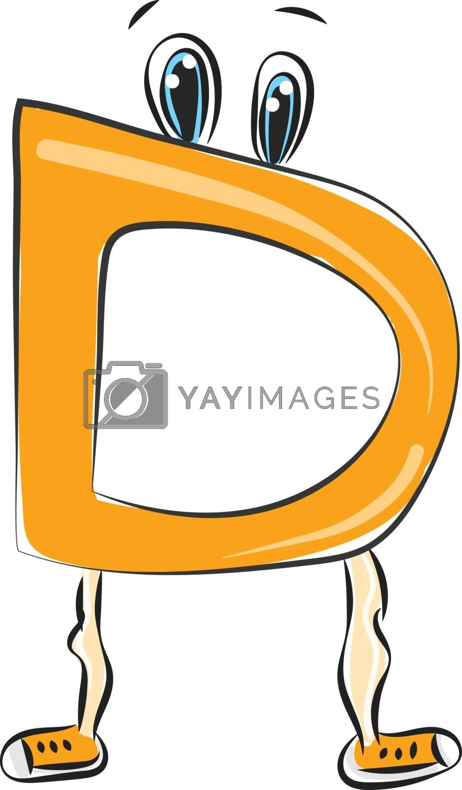 Royalty free image of Letter D alphabet emoji vector or color illustration by Morphart