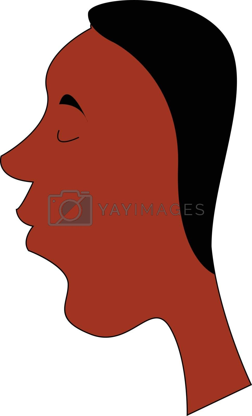 Royalty free image of Black man portrait with closed eyes illustration vector on white by Morphart
