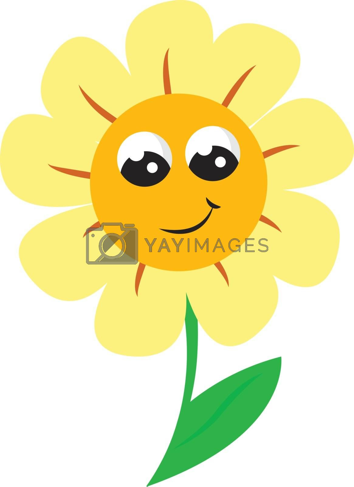 Royalty free image of A smiling sunflower vector or color illustration by Morphart