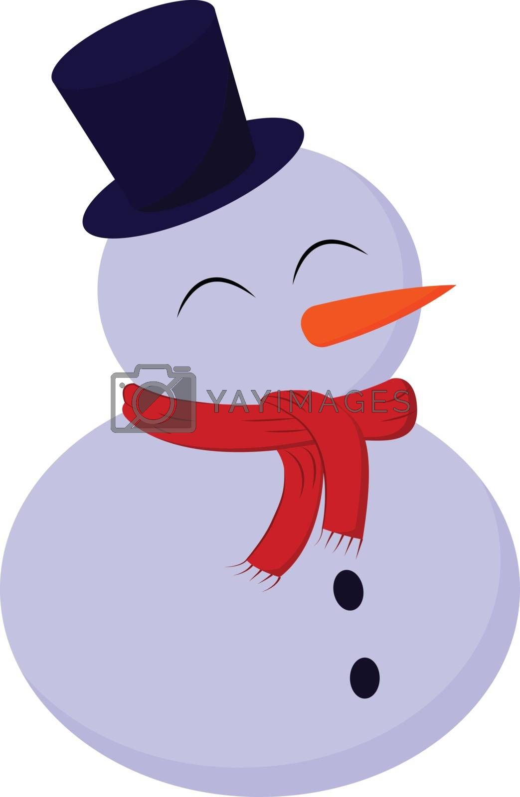 Royalty free image of A cute-little snowman in hat and scarf vector or color illustrat by Morphart