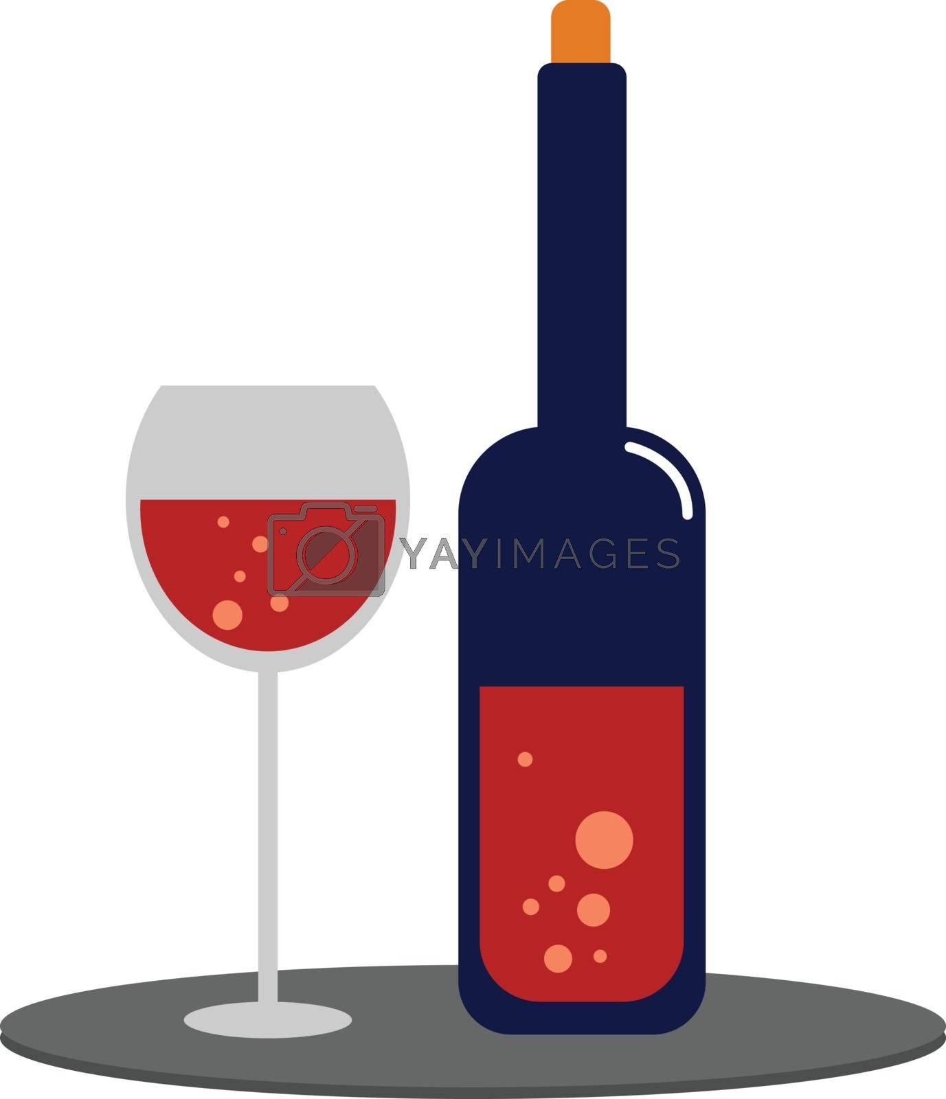 Royalty free image of Clipart of wine and an an elegant party drinking glassware vecto by Morphart