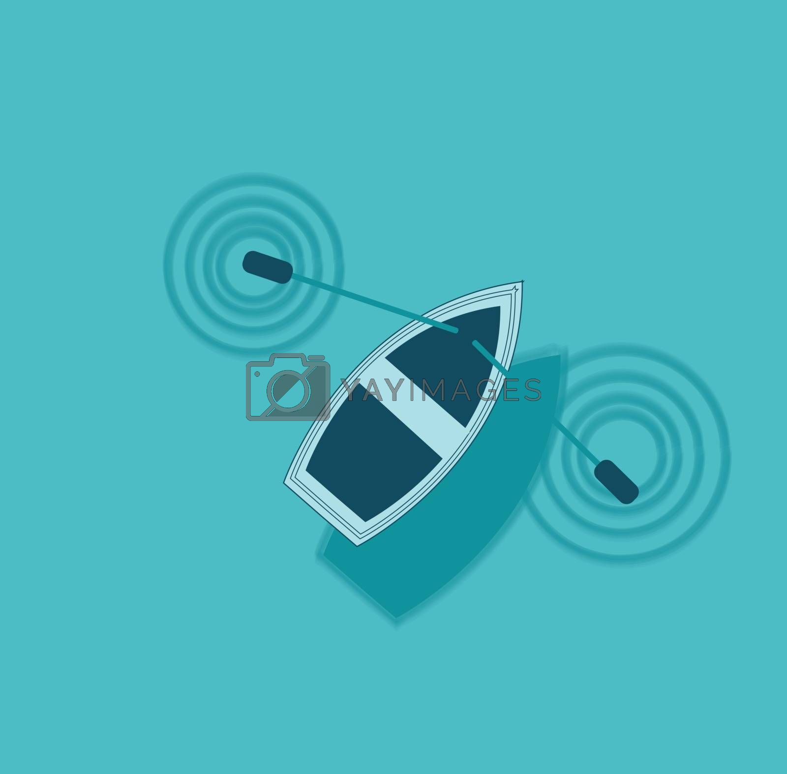 Royalty free image of Illustration of a ship sailing across the sea vector or color il by Morphart