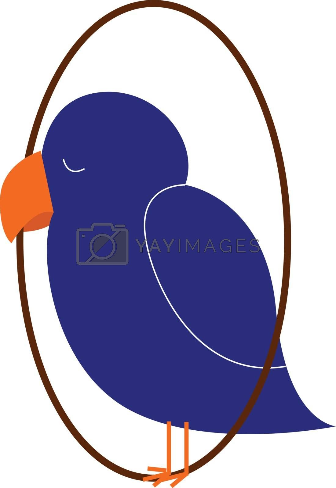 Royalty free image of Clipart of a blue-colored sleeping bird vector or color illustra by Morphart