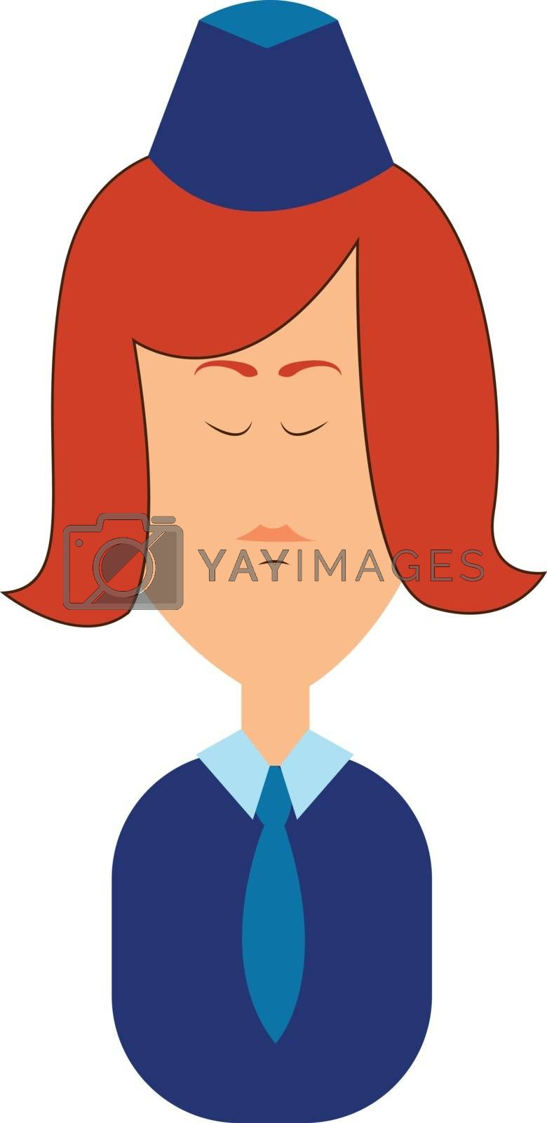 Royalty free image of Clipart character of a stewardess in her blue uniform vector or  by Morphart