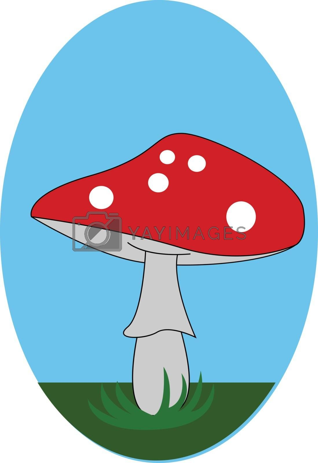 Royalty free image of A cute little red-colored mushroom vector or color illustration by Morphart
