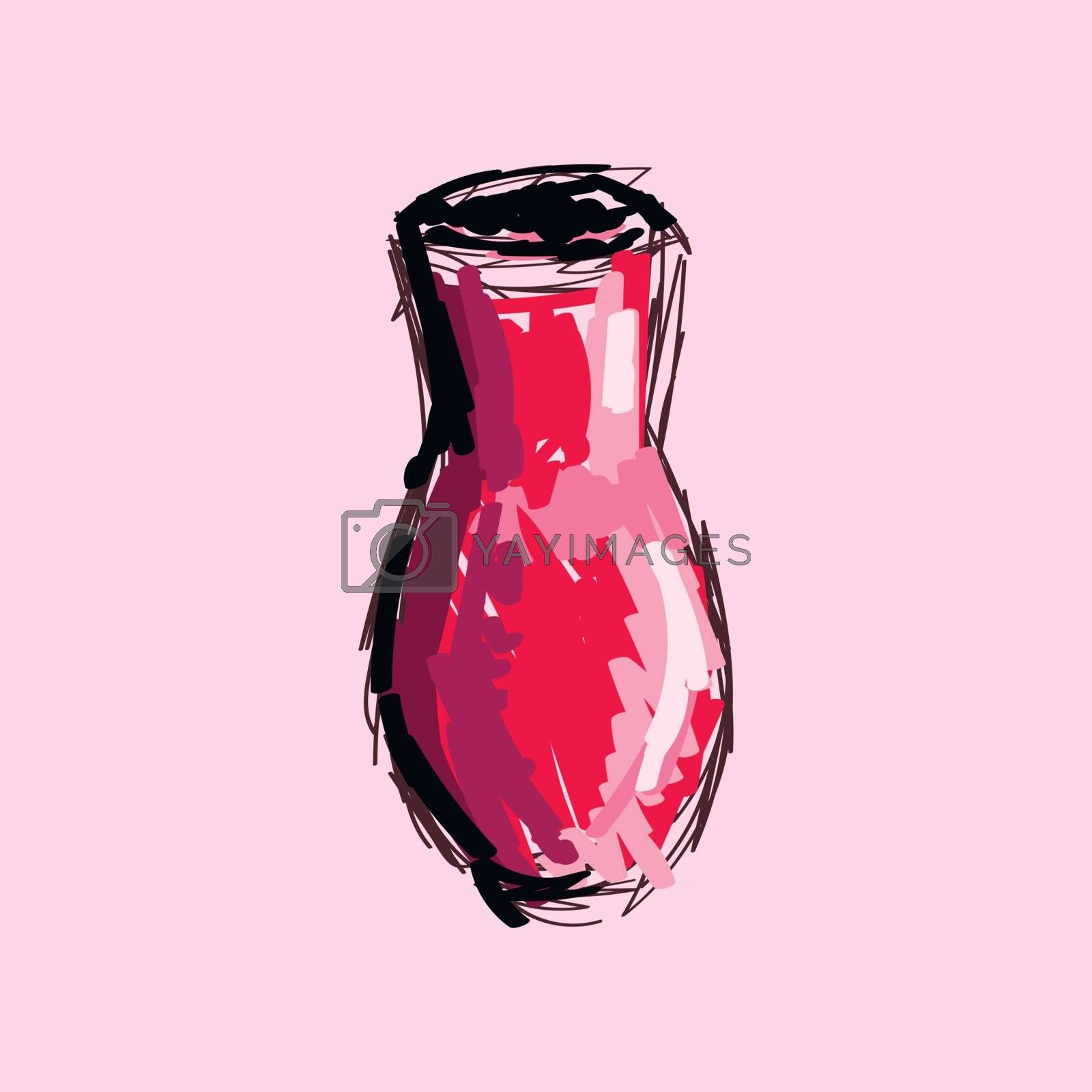 Royalty free image of Clipart of a vase art vector or color illustration by Morphart