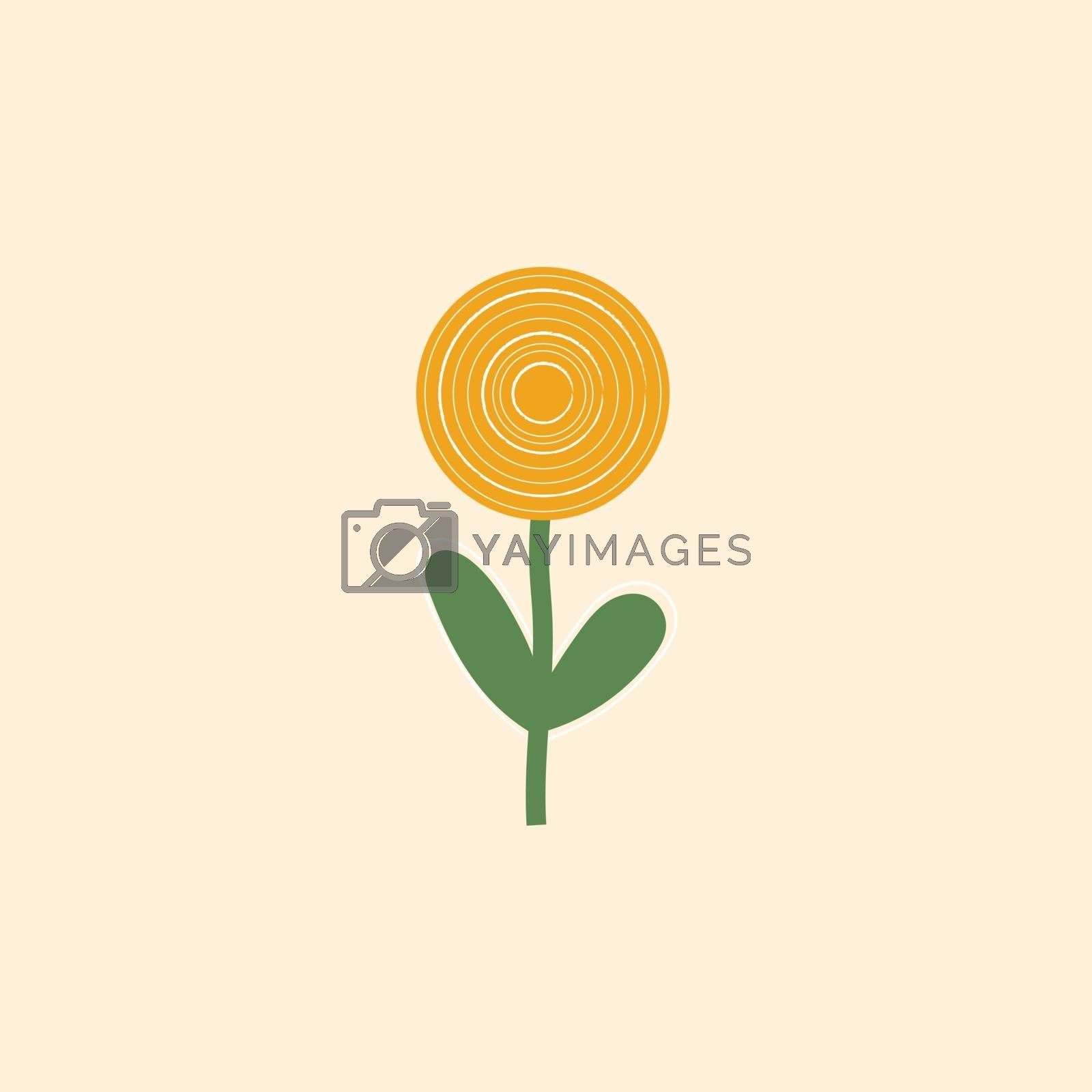 Royalty free image of Clipart of a sunflower set on pink-colored background vector or  by Morphart