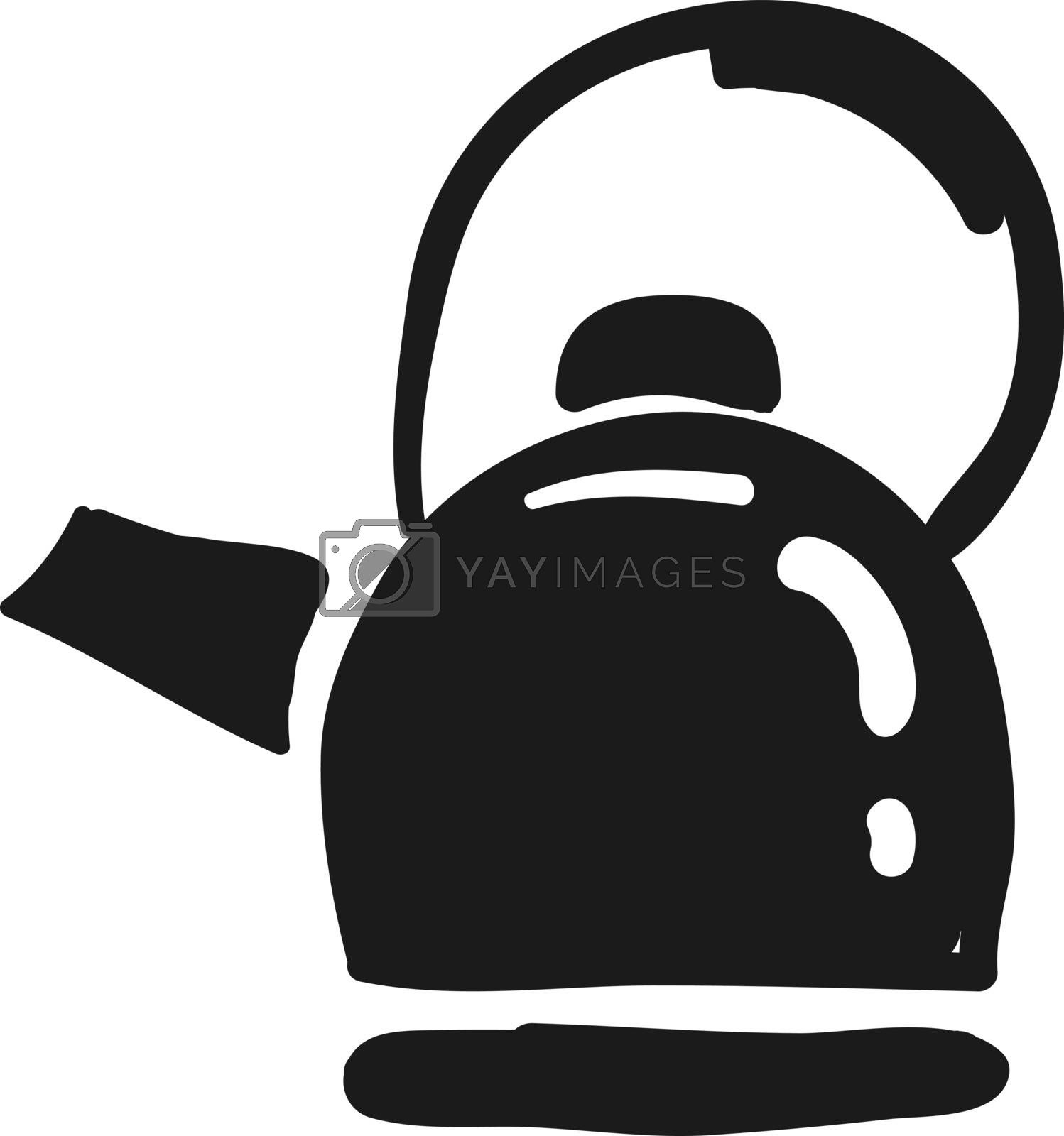 Royalty free image of Clipart of a clever black-colored teapot vector or color illustr by Morphart