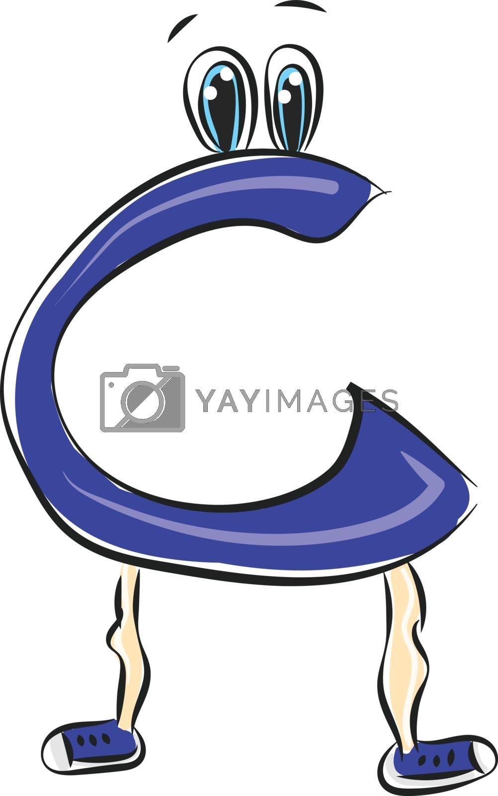Royalty free image of Letter C alphabet emoji vector or color illustration by Morphart