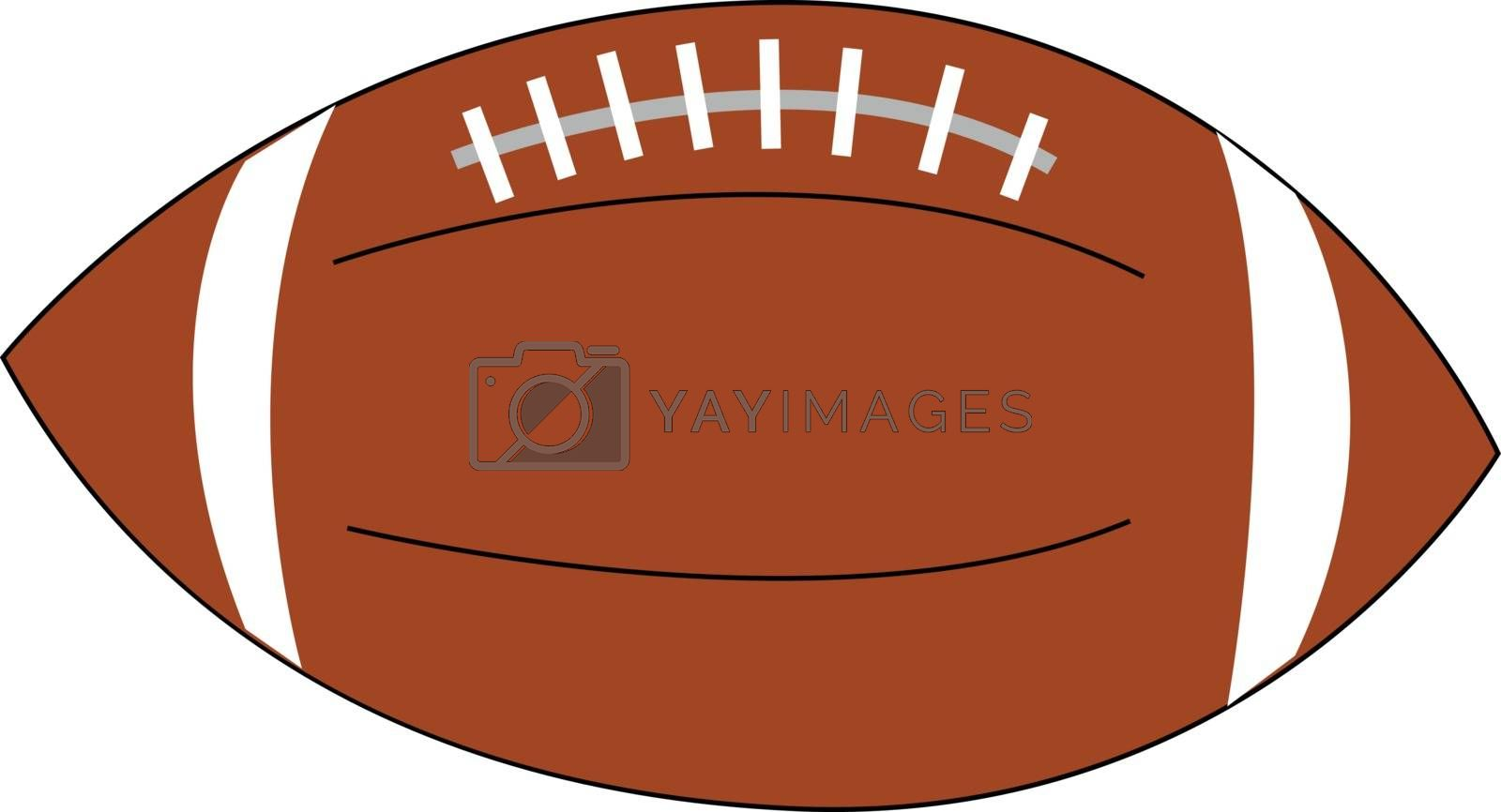Royalty free image of Clipart of an inflated ellipsoidal soccer ball vector or color i by Morphart