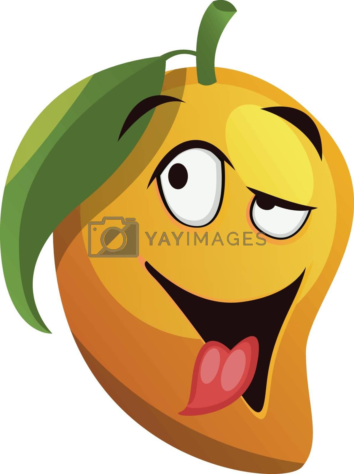 Royalty free image of Mango cartoon crazy feeling illustration vector on white backgro by Morphart