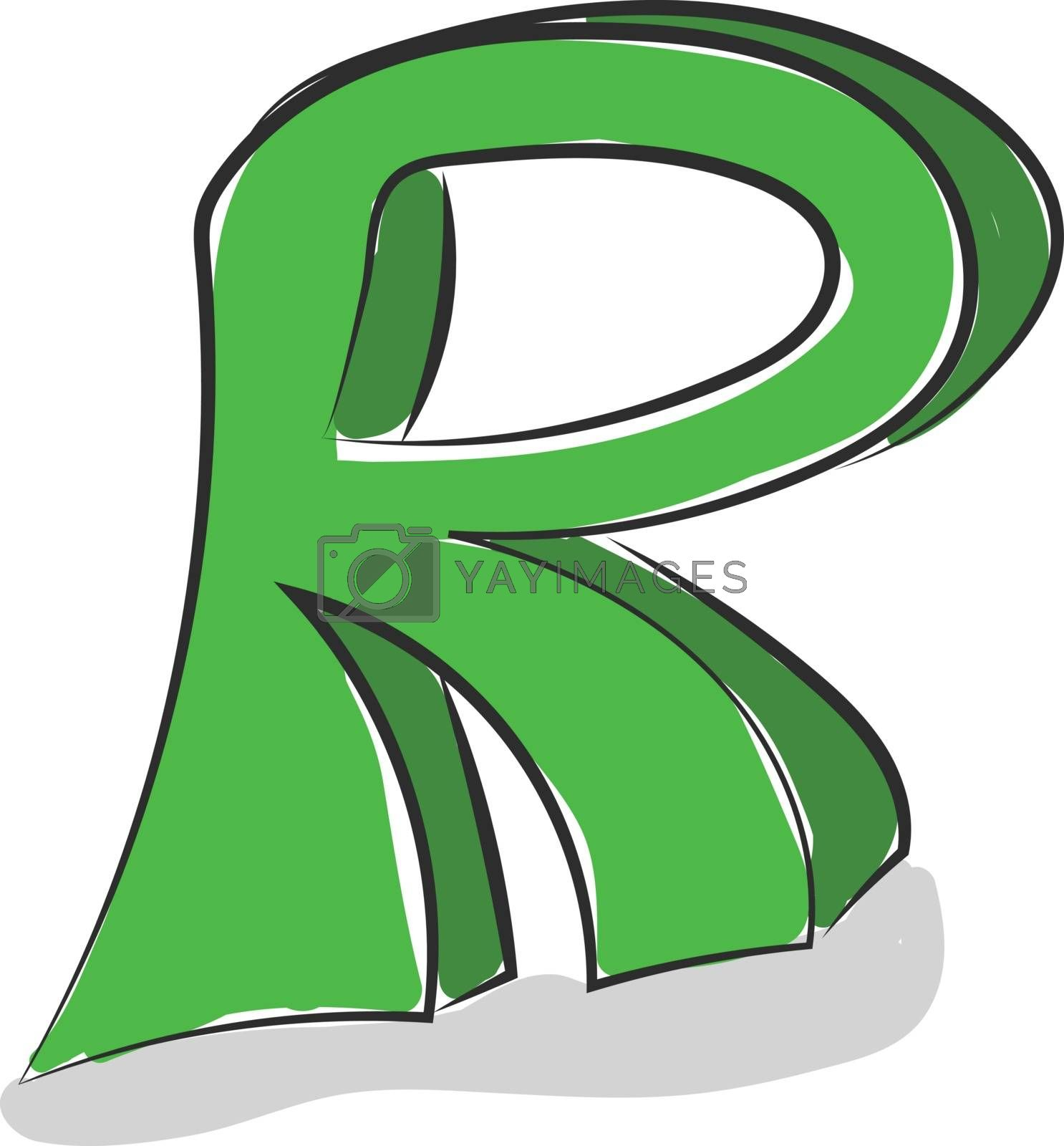 Royalty free image of Letter R alphabet vector or color illustration by Morphart