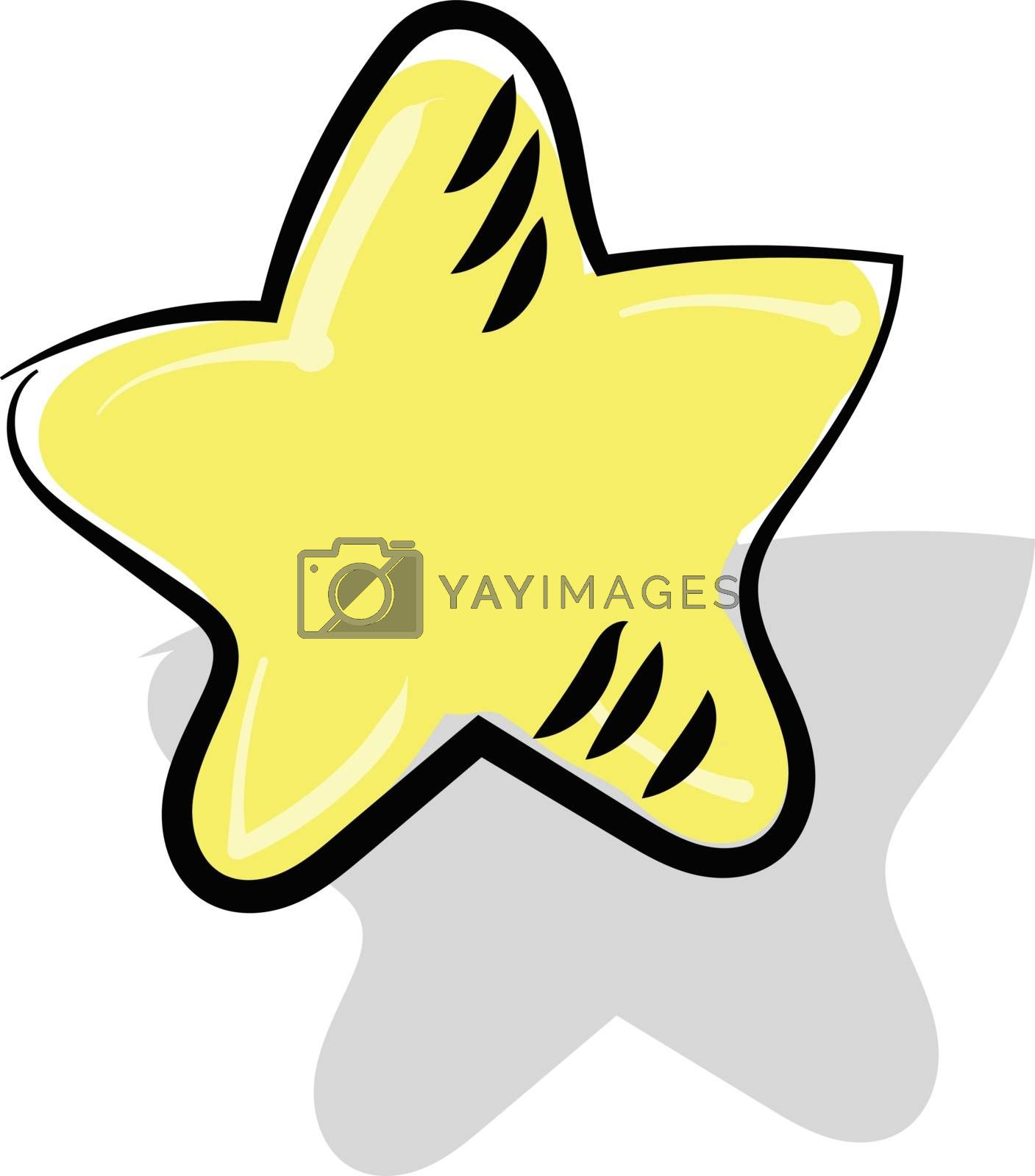 Royalty free image of Painting of a yellow-colored star vector or color illustration by Morphart