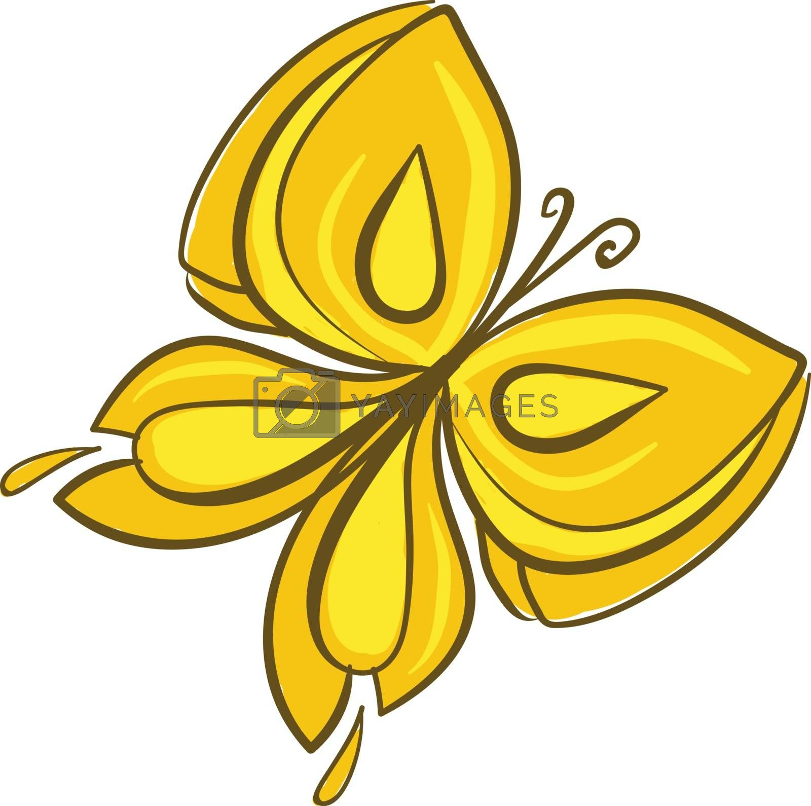 Royalty free image of Drawing of a brightly colored yellow butterfly vector or color i by Morphart