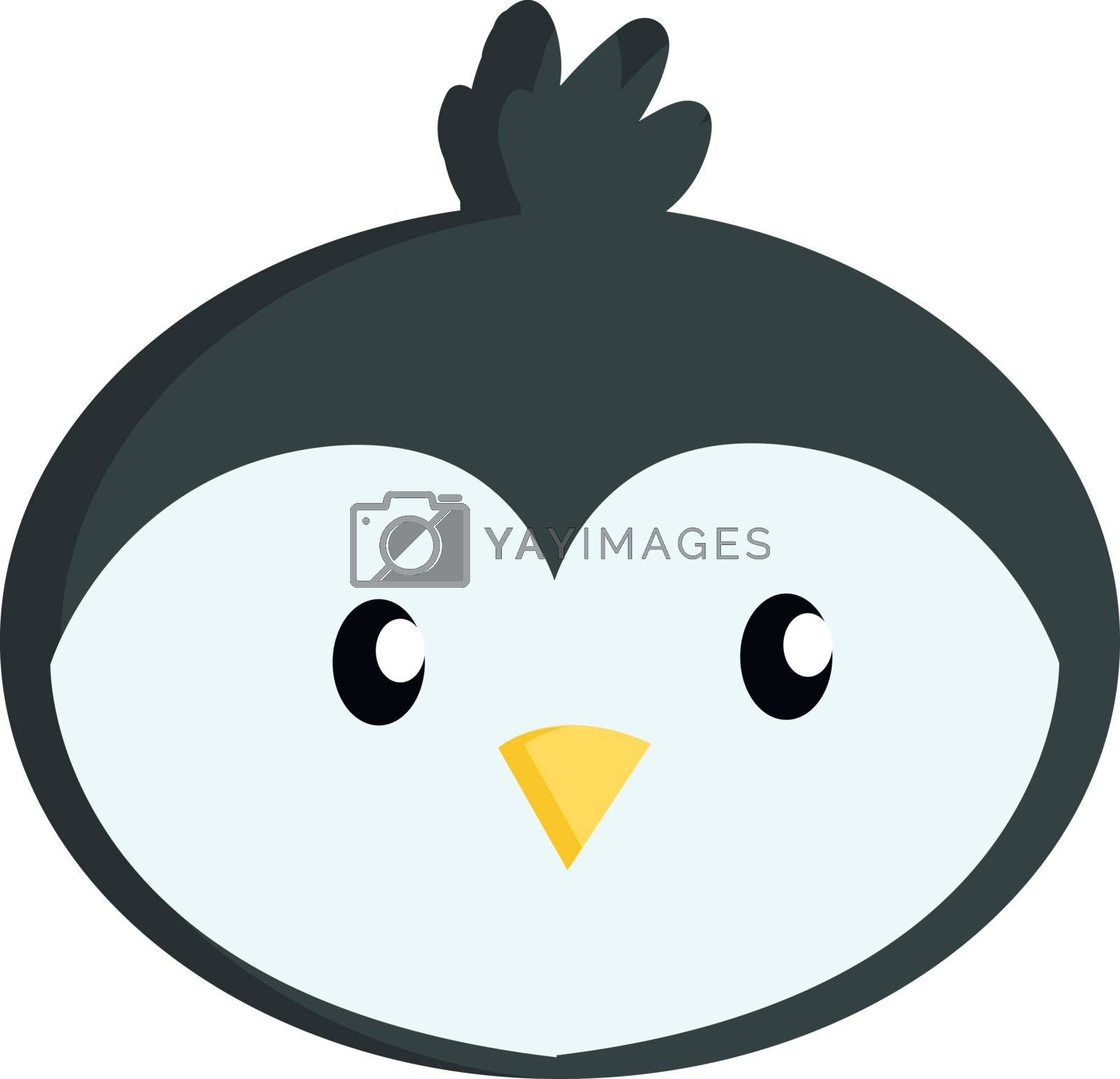 Royalty free image of Little cute penguin face illustration vector on white background by Morphart