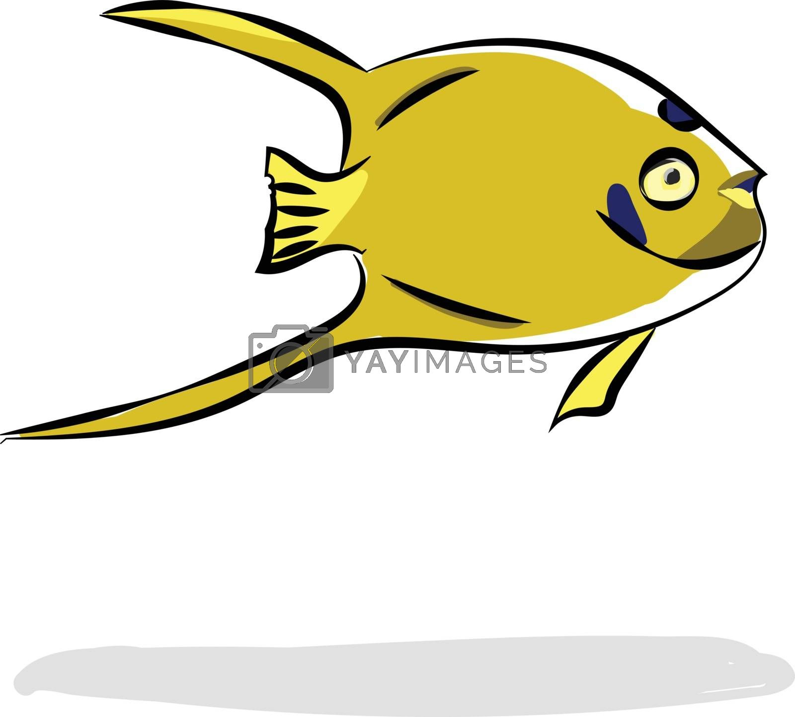 Royalty free image of Painting of a yellow-colored fish vector or color illustration by Morphart