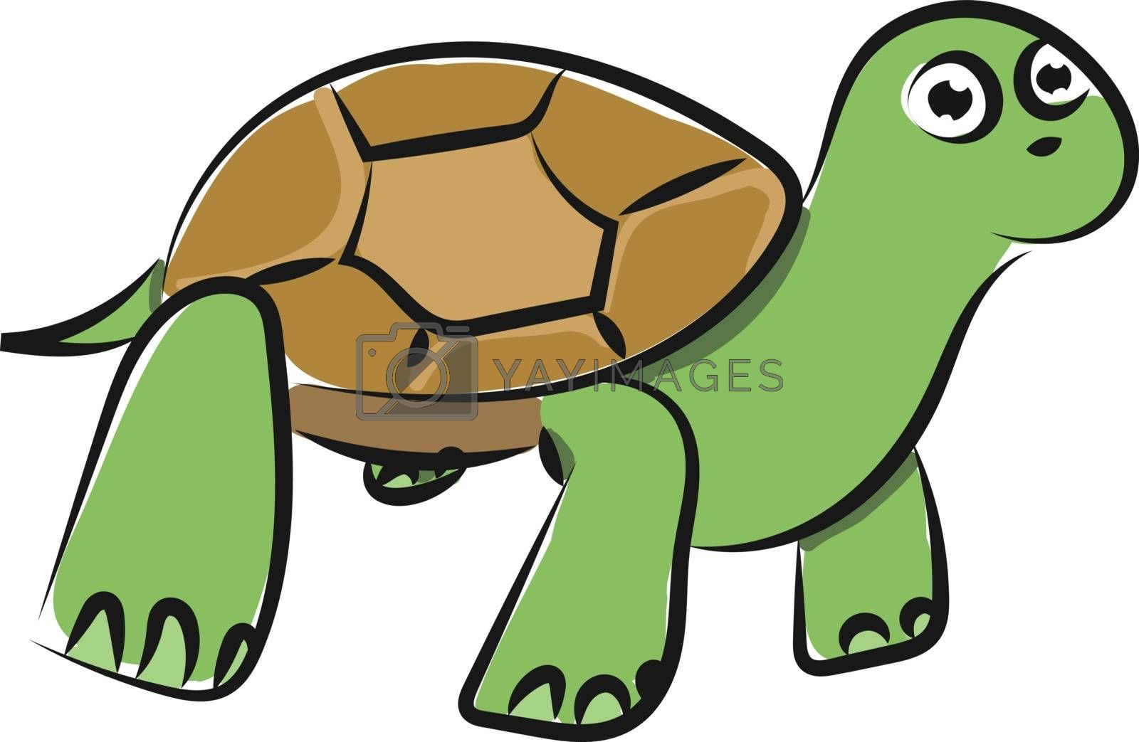 Royalty free image of Emoji of a green tortoise vector or color illustration by Morphart