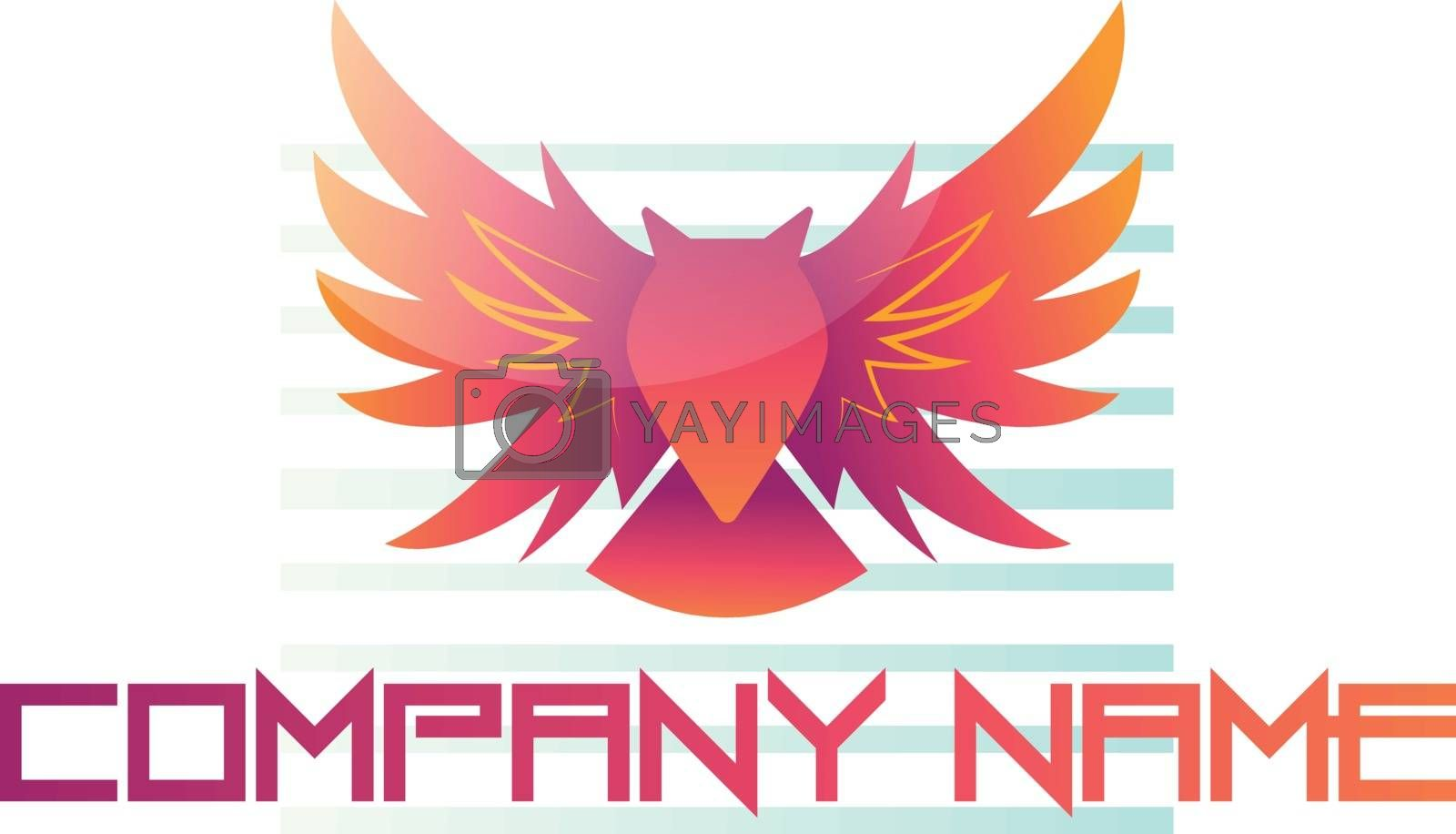 Royalty free image of Red owl as a company logo on white background vector illustratio by Morphart
