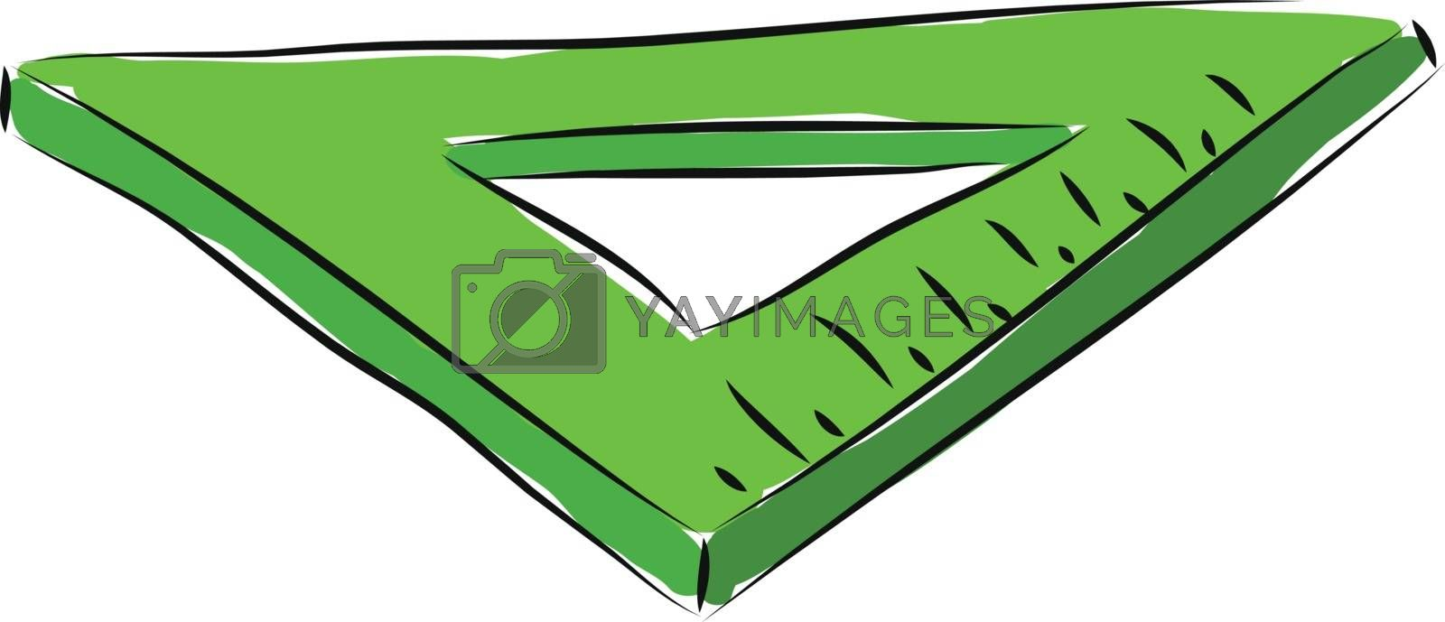 Royalty free image of Green triangle ruler illustration vector on white background by Morphart