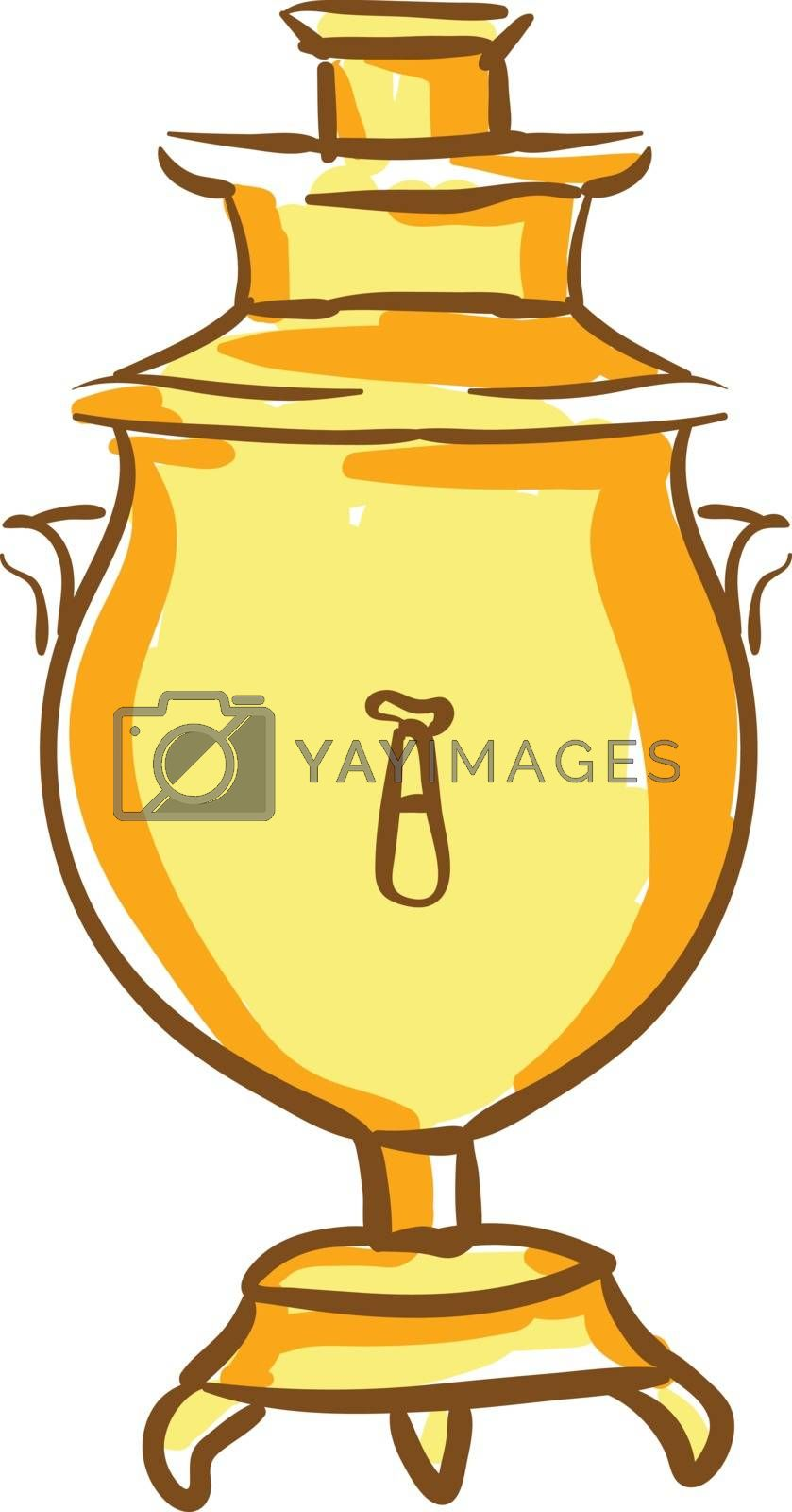 Royalty free image of Clipart of an oval-shaped Russian samovar vector or color illust by Morphart
