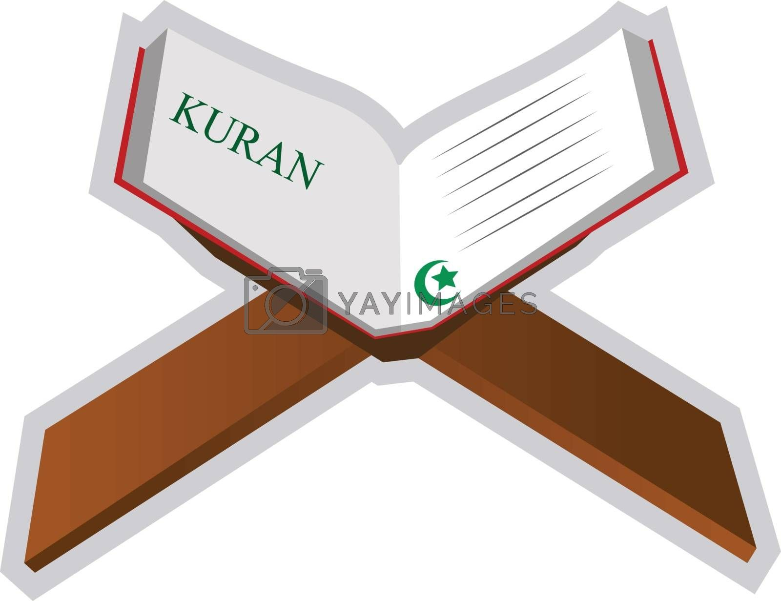 Royalty free image of Illustration of a holy book Quran on a white background by Morphart