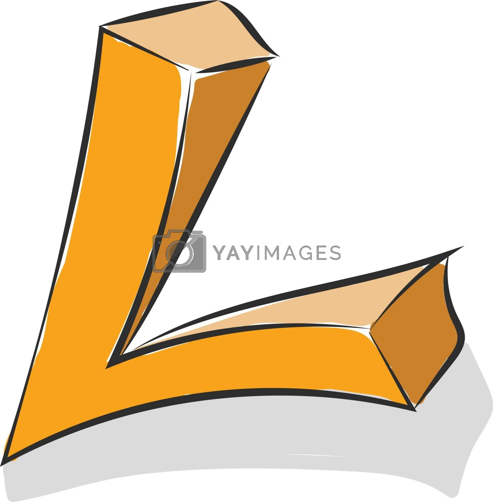 Royalty free image of Letter L alphabet vector or color illustration by Morphart
