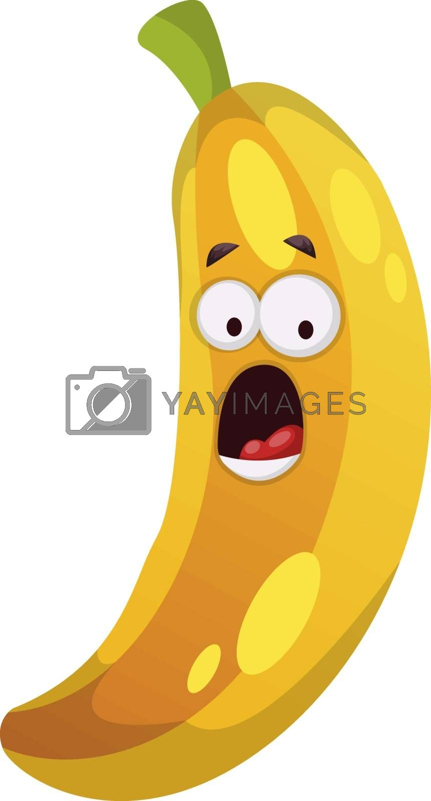 Royalty free image of Surprised banana illustration vector on white background by Morphart