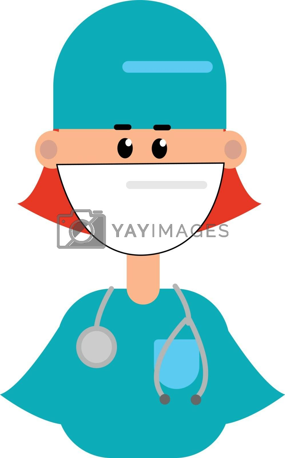 Royalty free image of Clipart of a female doctor in her blue uniform vector or color i by Morphart