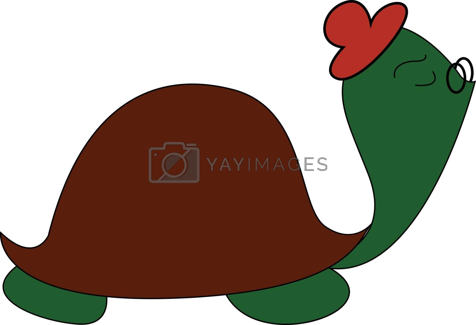Royalty free image of Funny cartoon turtle set on isolated white background viewed fro by Morphart