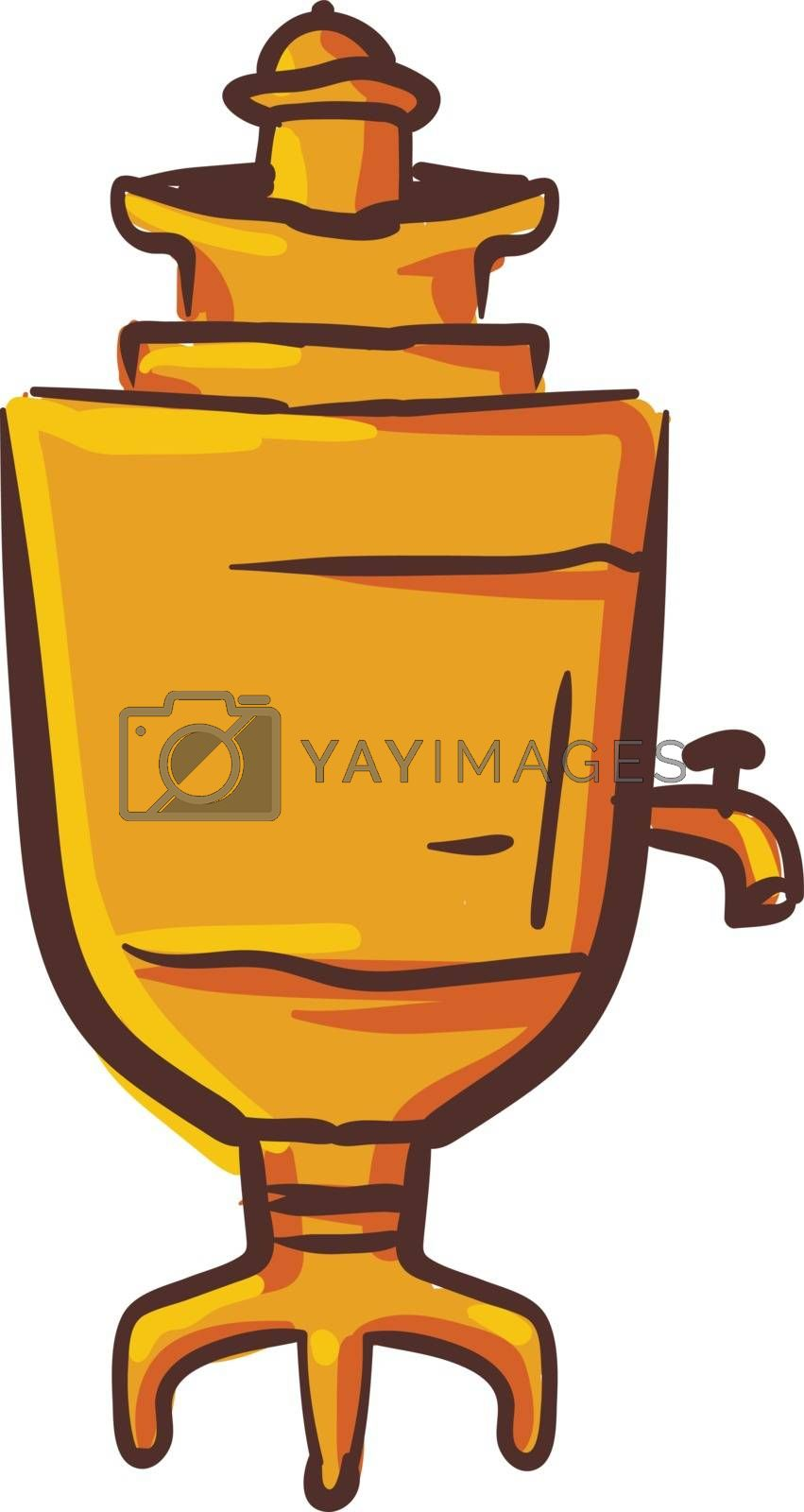 Royalty free image of Clipart of brown-colored samovar vector or color illustration by Morphart
