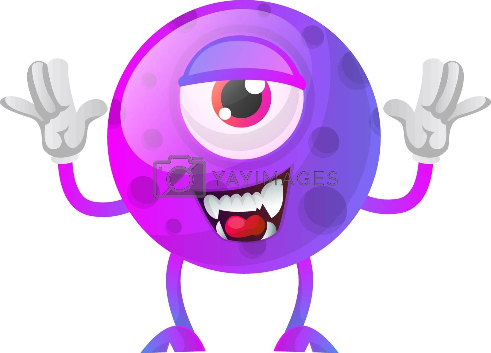 Royalty free image of Purple monster posing for a photo illustration vector on white b by Morphart