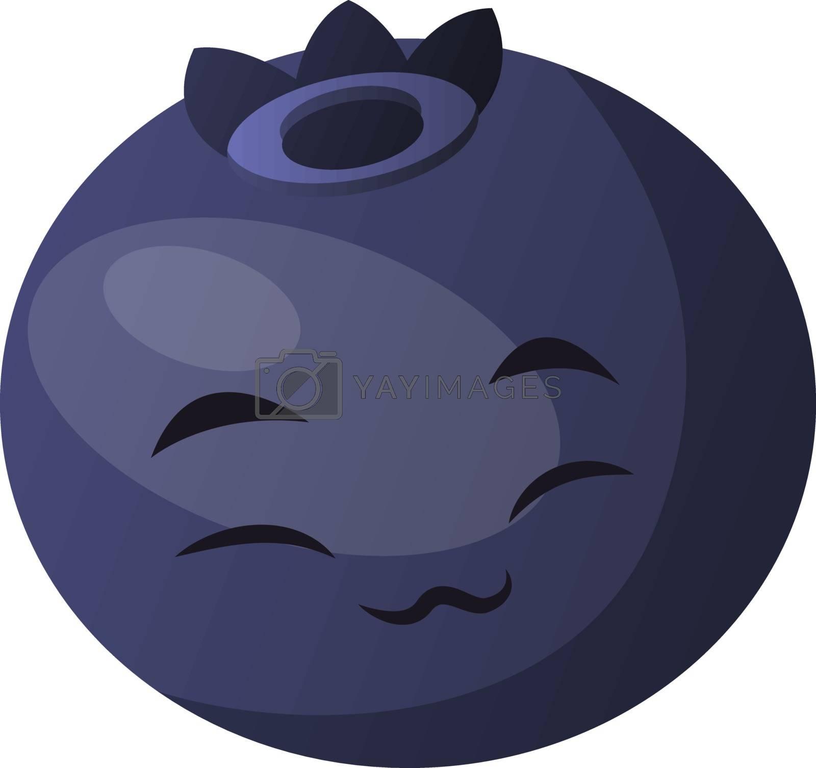 Royalty free image of Blueberry closed eyes enjoying illustration vector on white back by Morphart