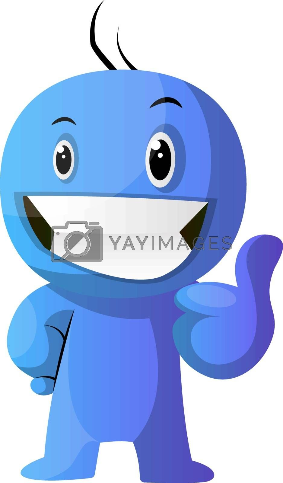 Royalty free image of Blue cartoon caracter positive illustration vector on white back by Morphart