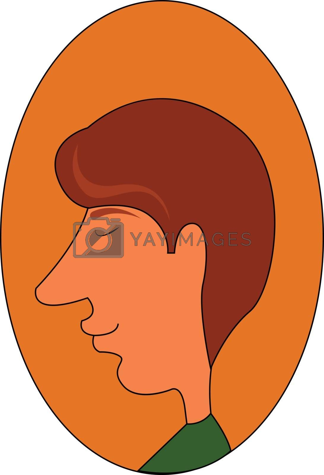 Royalty free image of Clipart of a man in a green shirt over oval-shaped yellow backgr by Morphart