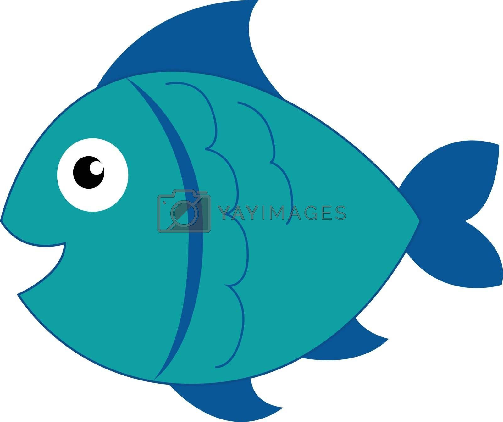 Royalty free image of Clipart of a blue-colored smiling fish vector or color illustrat by Morphart