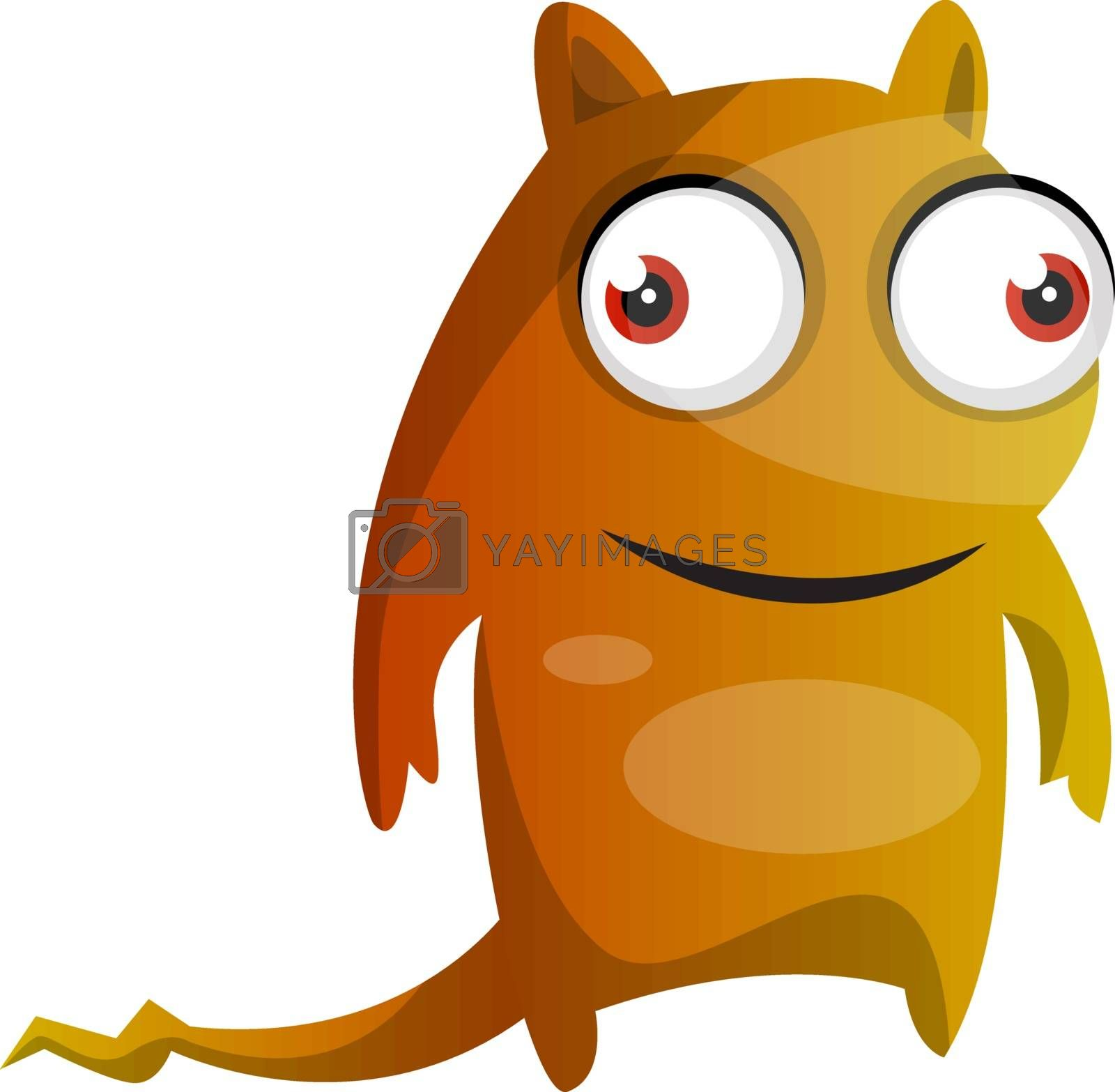 Royalty free image of Orange monster with a tail illustration vector on white backgrou by Morphart