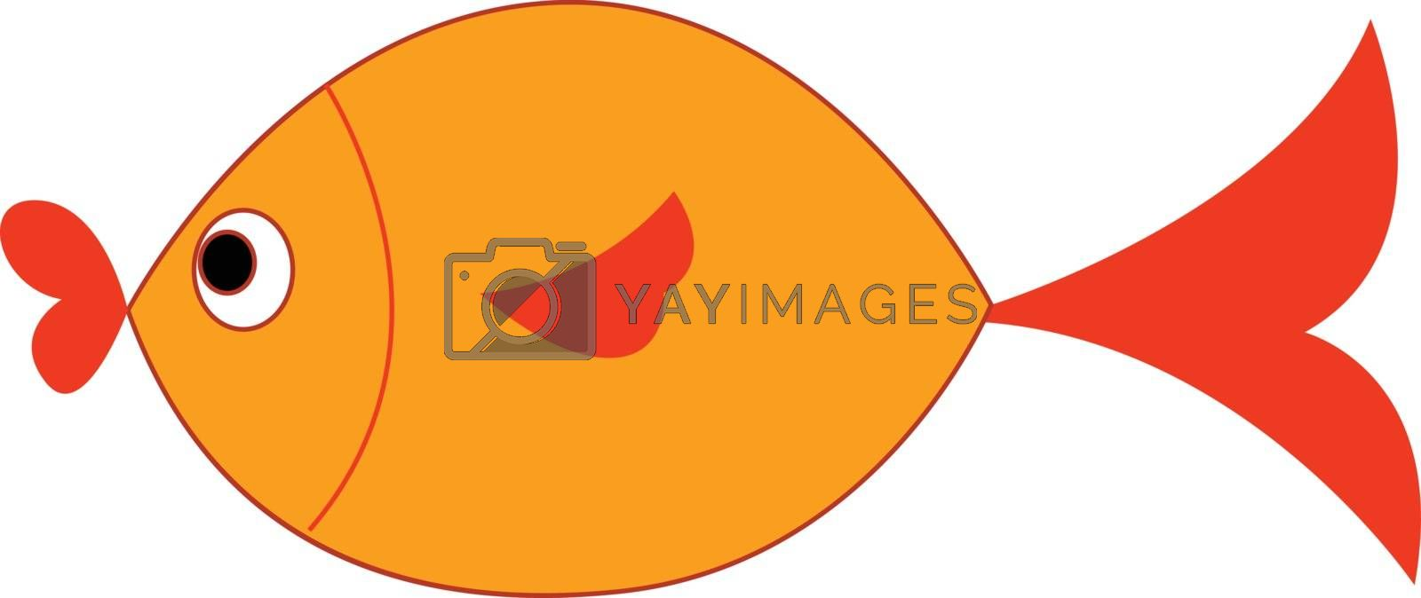 Royalty free image of Clipart of a yellow-colored fish vector or color illustration by Morphart