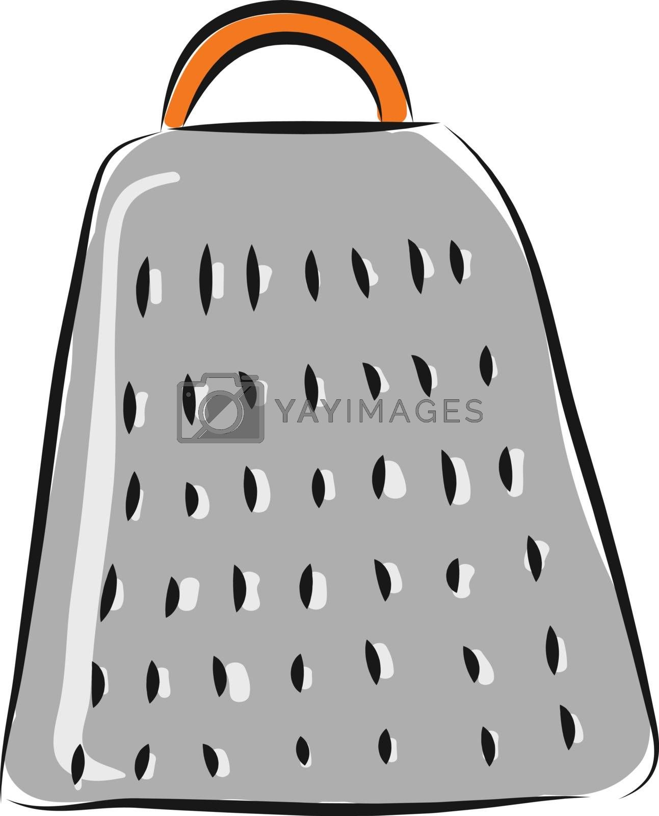 Royalty free image of Grey grater with orange handle illustration vector on white back by Morphart