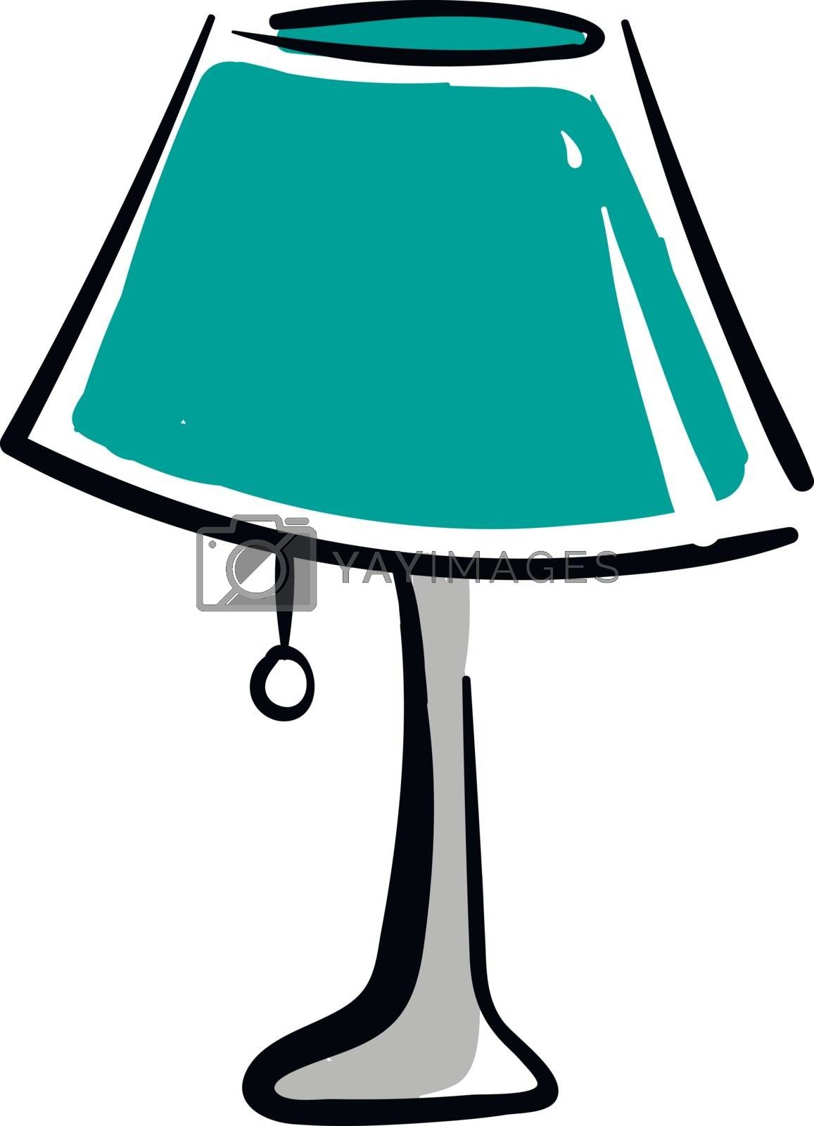 Royalty free image of Green desk lamp with grey stand illustration vector on white bac by Morphart