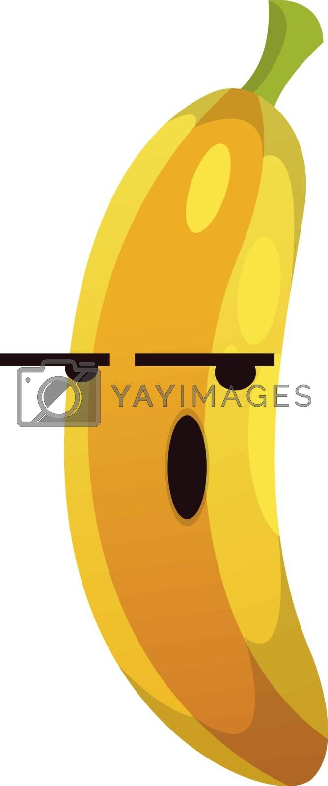 Royalty free image of Banana not in the mood illustration vector on white background by Morphart