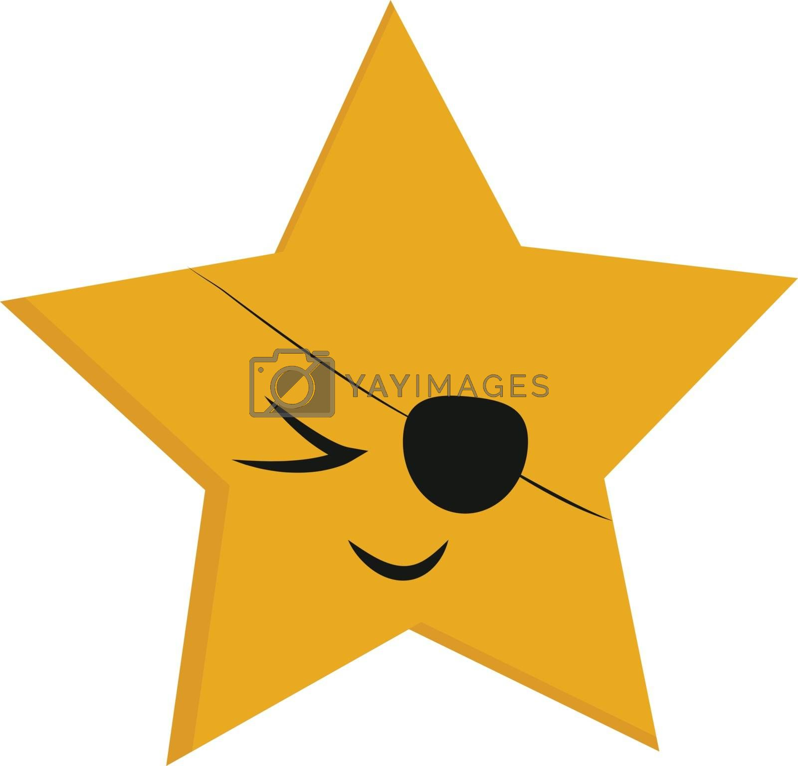 Royalty free image of Emoji of a five pointed yellow star vector or color illustration by Morphart