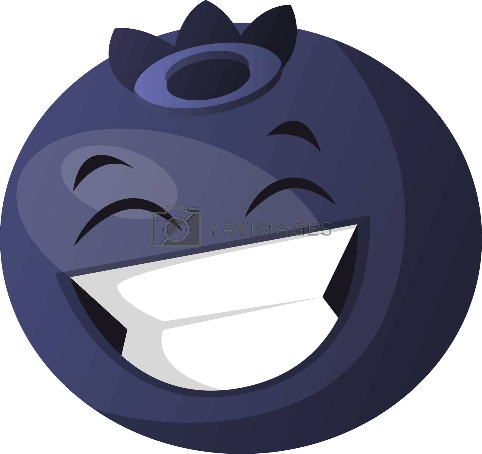 Royalty free image of Blueberry laughing illustration vector on white background by Morphart