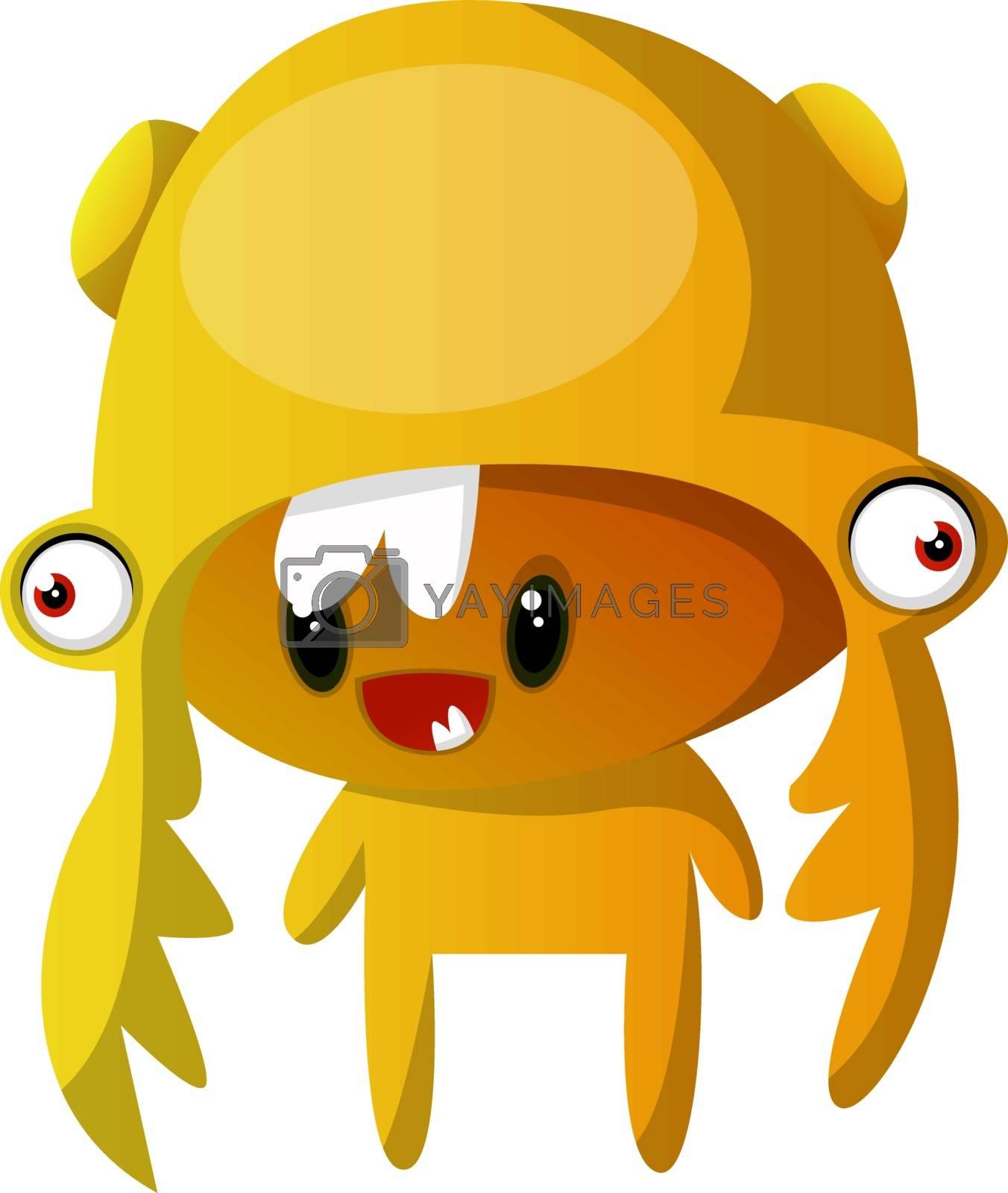 Royalty free image of Orange mutant monster illustration vector on white background by Morphart