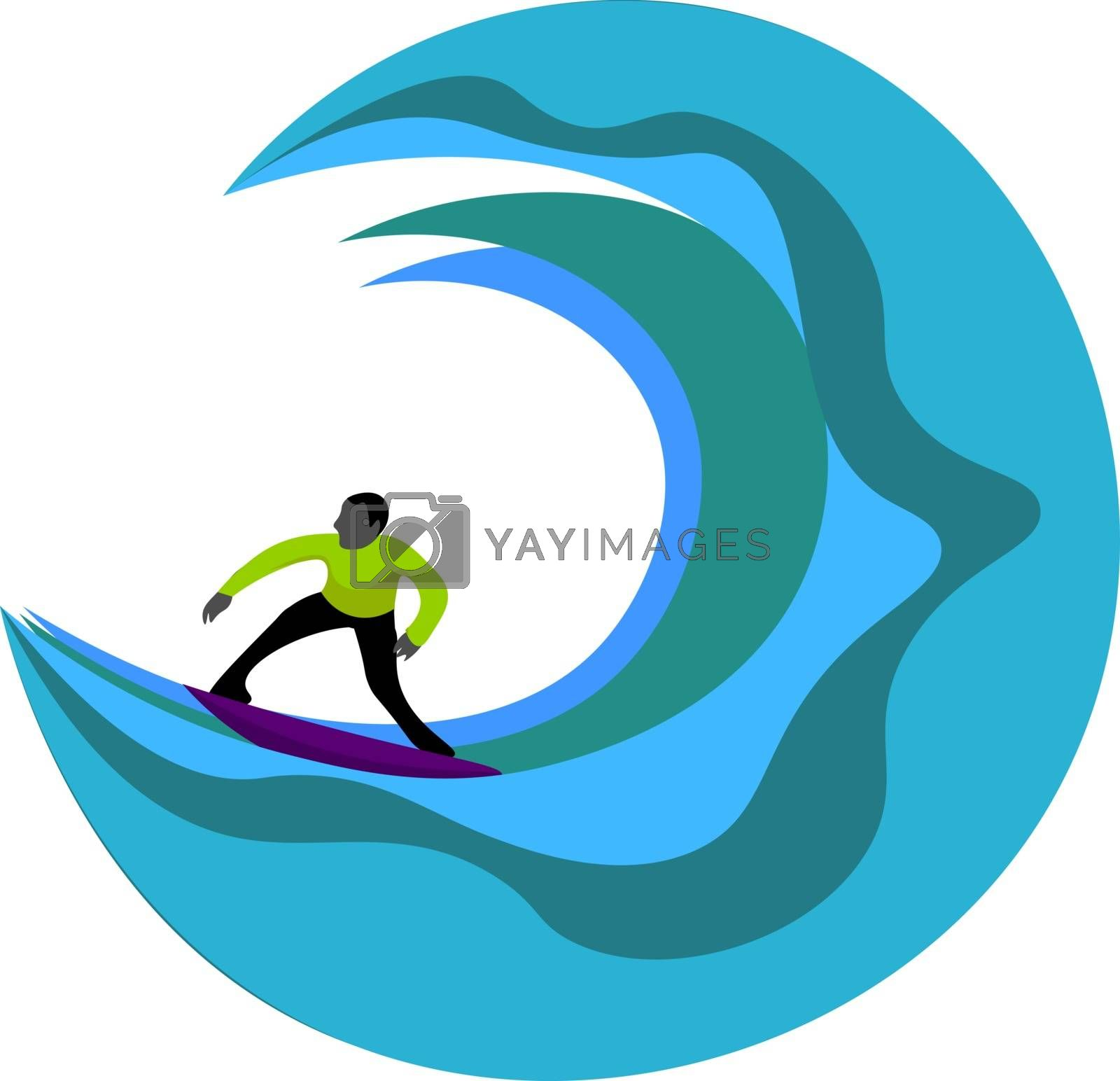 Royalty free image of Portrait of a surfer vector or color illustration by Morphart