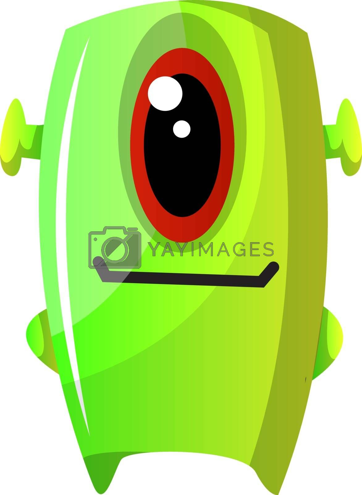 Royalty free image of One eyed green monster illustration vector on white background by Morphart