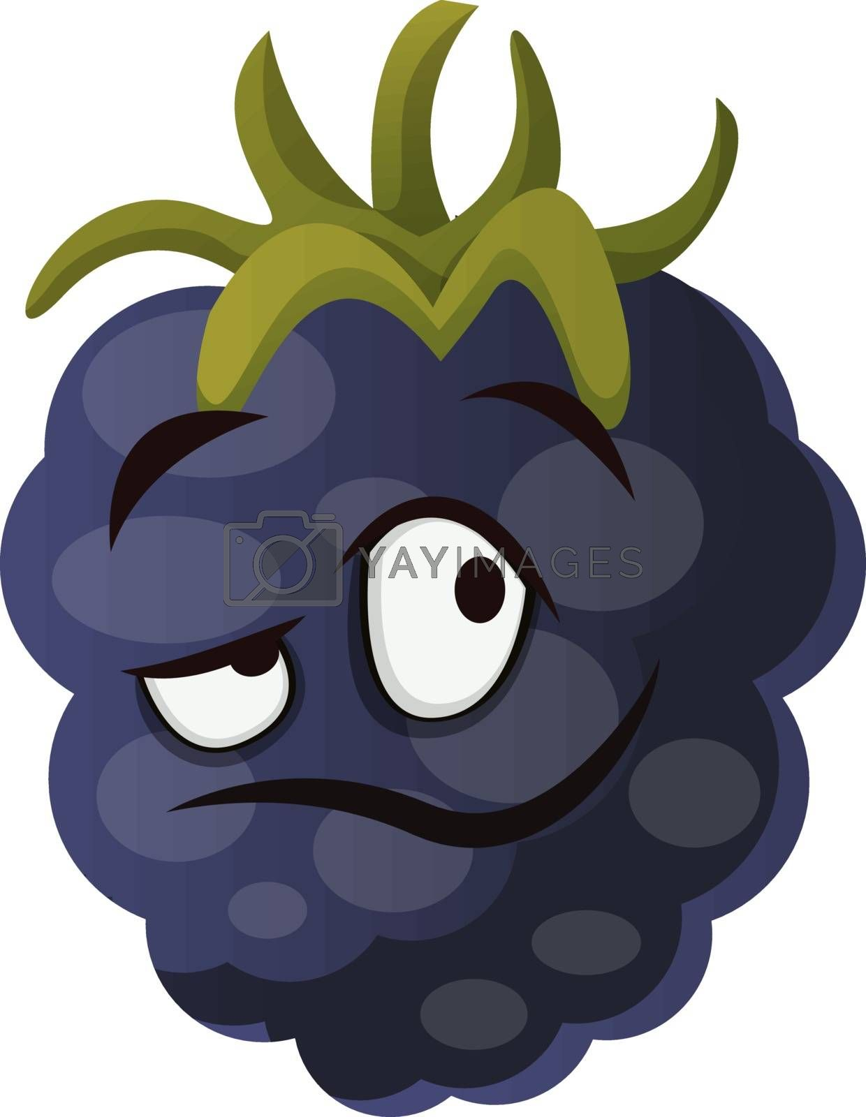 Royalty free image of Mulberry monster face illustration vector on white background by Morphart