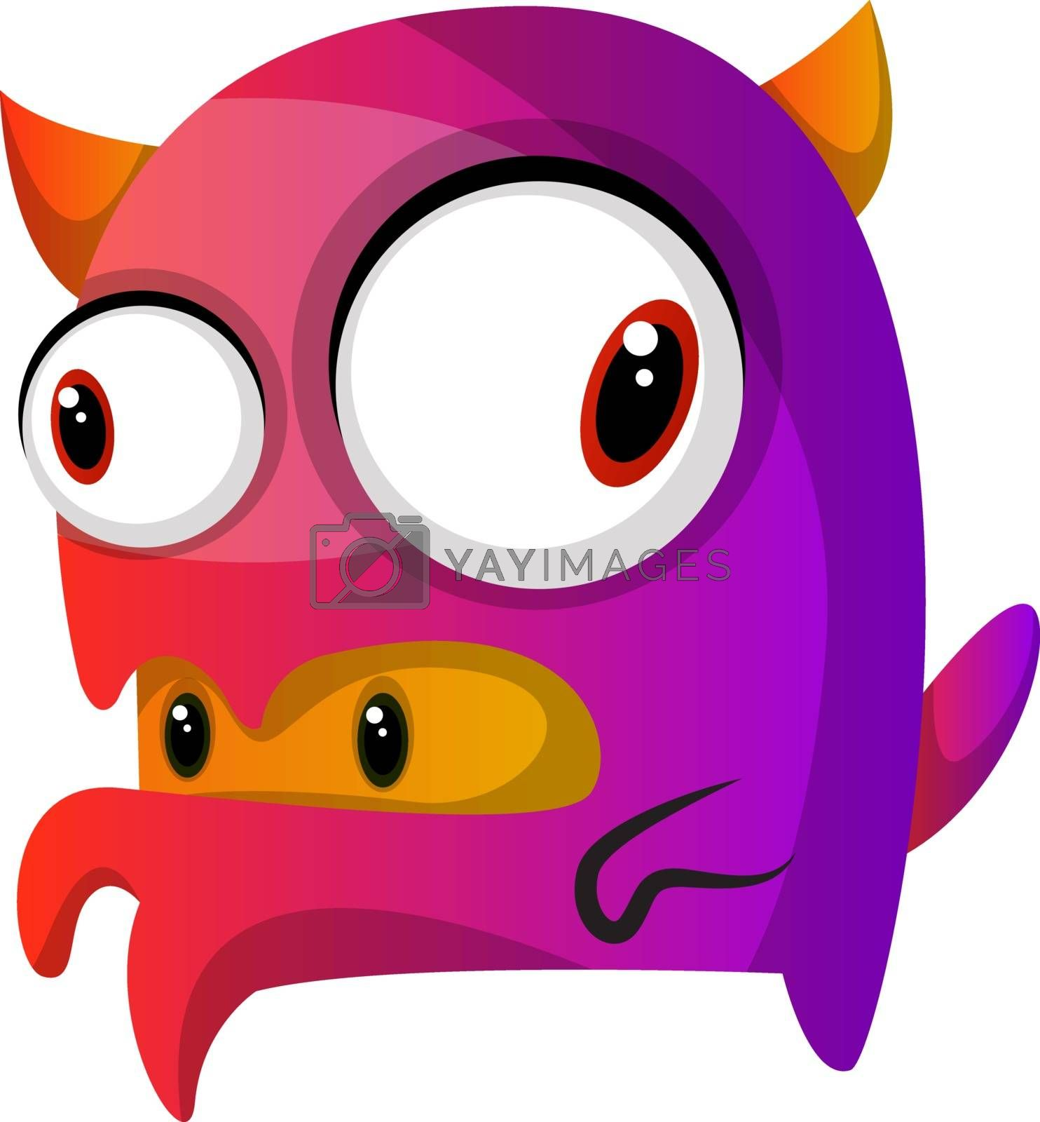Royalty free image of Purple monster with a monster inside his mouth illustration vect by Morphart