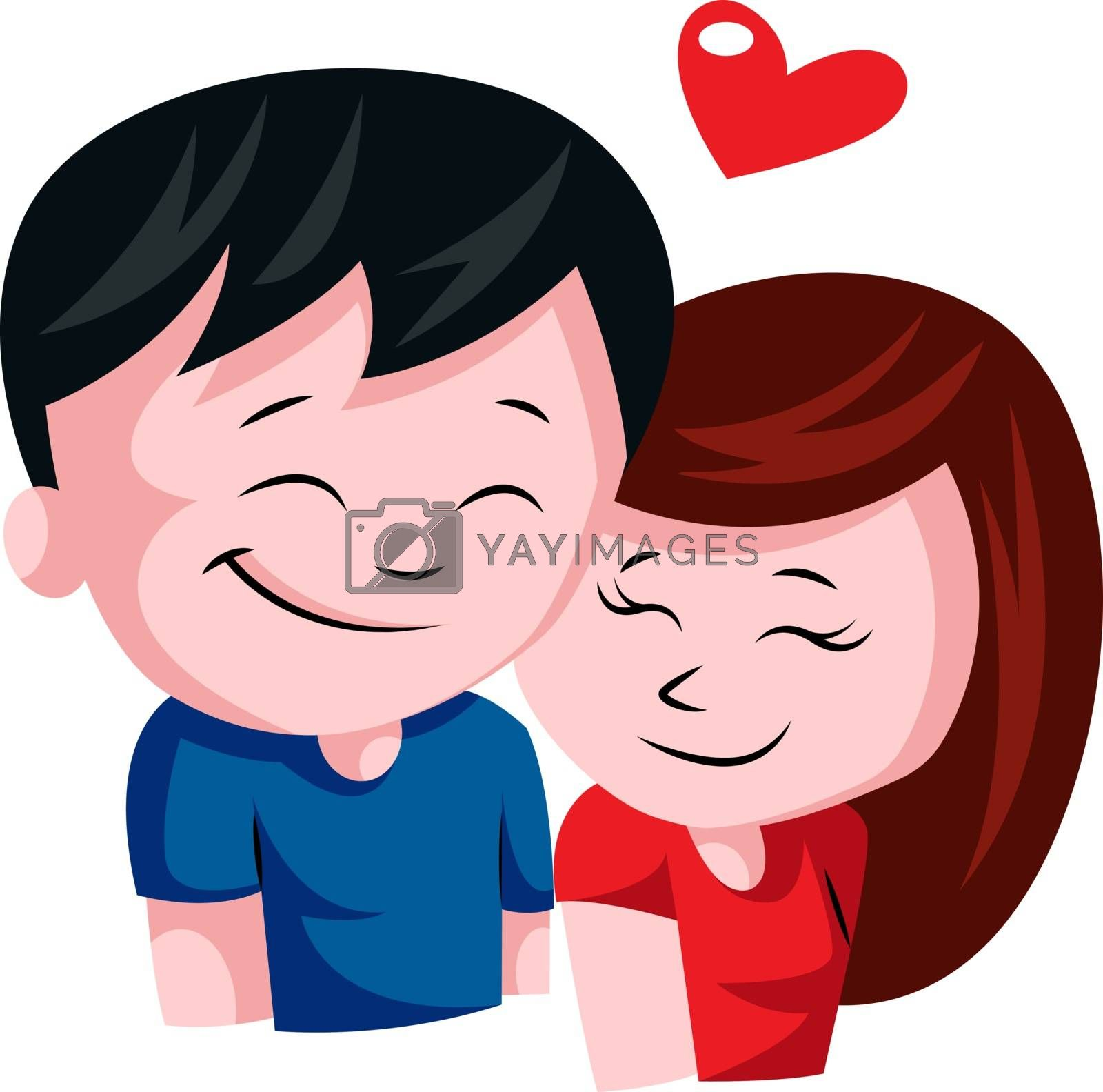 Royalty free image of Young couple in love illustration vector on white background by Morphart