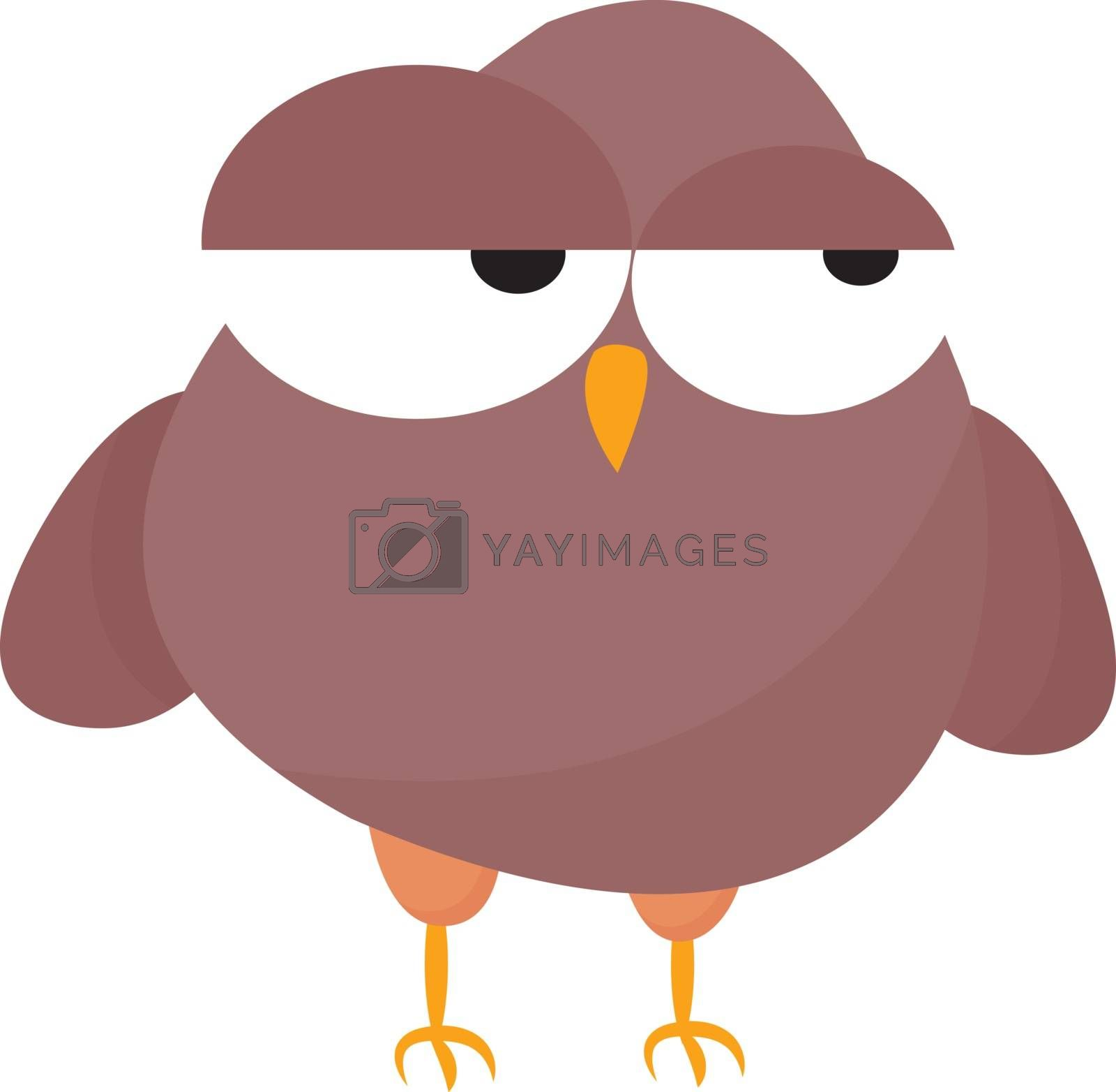 Royalty free image of Emoji of a tired rose-colored owl vector or color illustration by Morphart